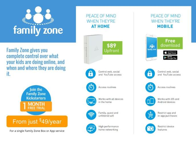 Family Zone Pricing Page